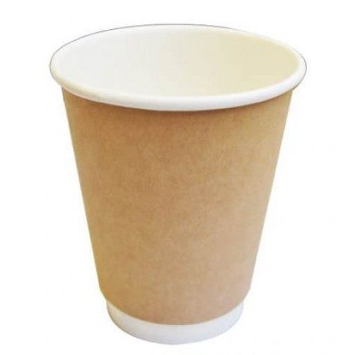 12oz Kraft Double Wall Bio Hot Cup