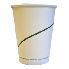 12oz White Printed Double Wall Bio Hot Cup