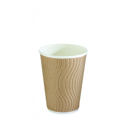 12oz Natural Double Wall Hot Cup