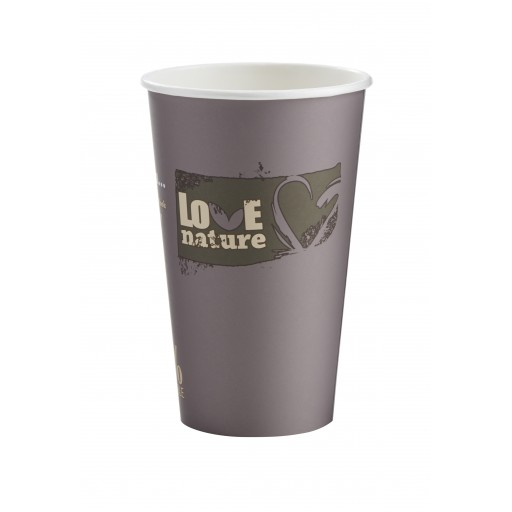 16oz BioWare Single Wall Hot Cup