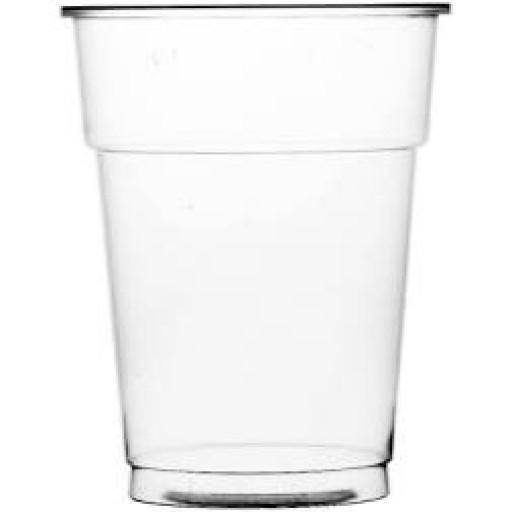20oz Polypropylene Flexi Glass Clear (1 Pint) CE