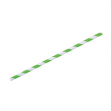 Paper Straws Green Stripe (6mm diameter)