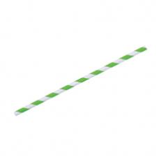 Paper Straws Green Stripe (6mm diameter)