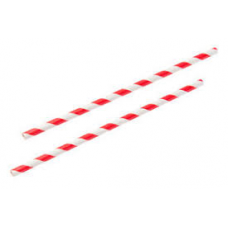 Paper Straws Red Stripe (6mm diameter)